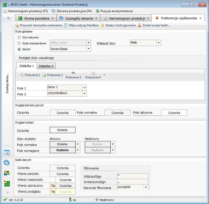 Architektura dflex gantt interaktywny system planowania produkcji konfiguracja wygldu aplikacji dowolne kolory czcionki oraz obsuga skrek ccuart Gallery
