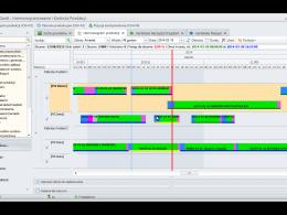 Przejrzysty i interaktywny diagram Gantt'a jest kluczową funkcją harmonogramu produkcji.